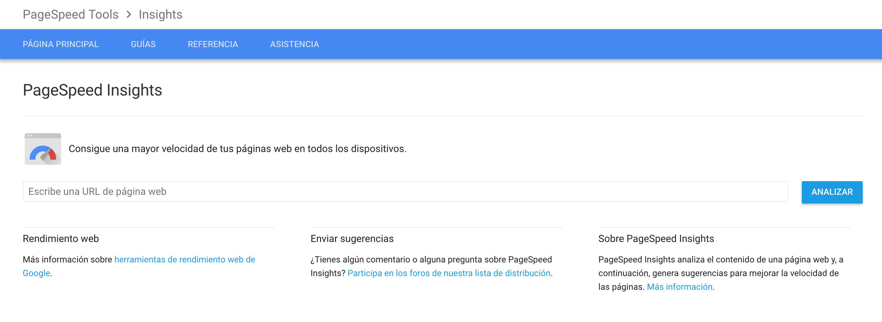 herramienta google page speed