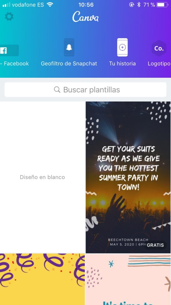 Canva para Instagram Stories