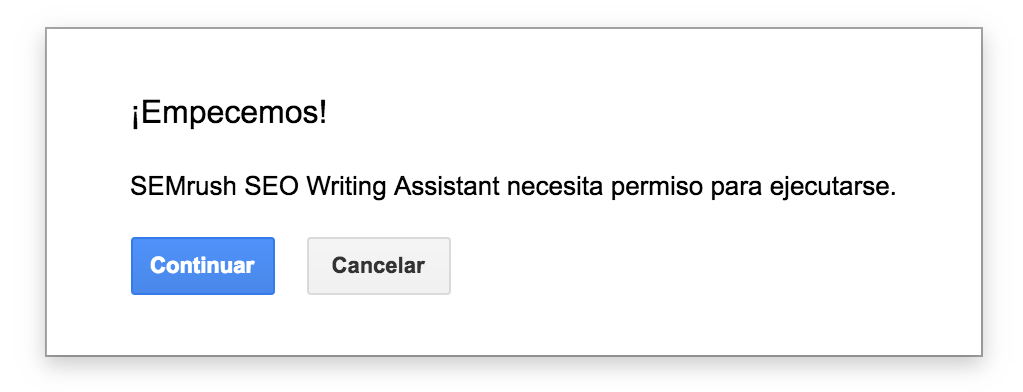 Iniciar el SEO Writing Assistant plugin