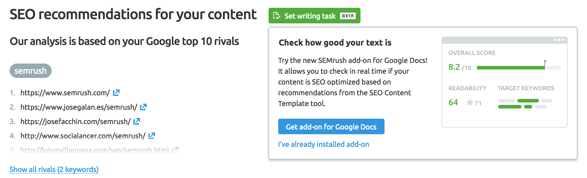 Pasos para instalar el Semrush Writing Assistant