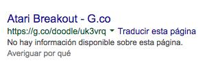Atari Breakout Resultado Google