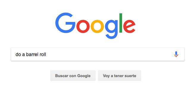 Trucos de Google: Do a barrel roll