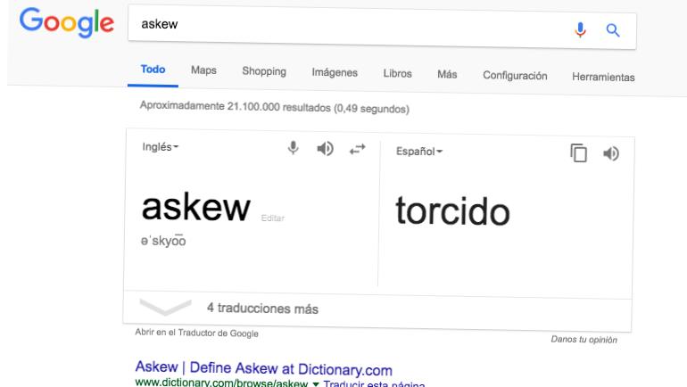 Truco de Google: Askew / Tilt