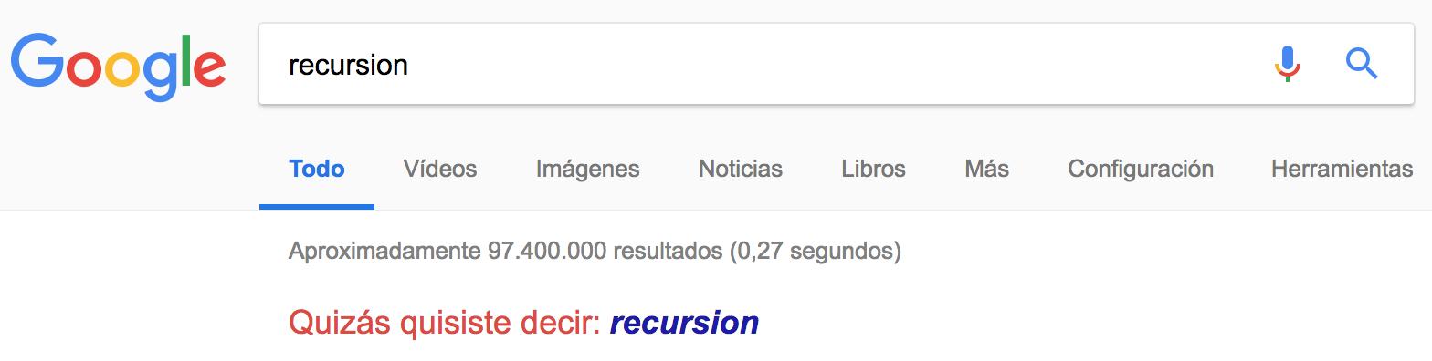 Trucos Google: Recursión