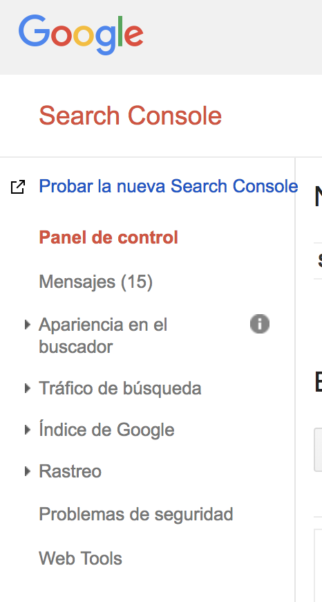 Beta Google Search Console
