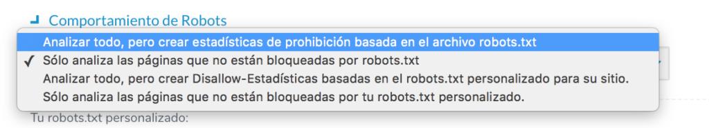 comportamiento robots en ryte